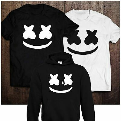 Adults Marshmello DJ Music Hoodie T-Shirt DotCom EDM Mellow Dance Hoody Tee Top