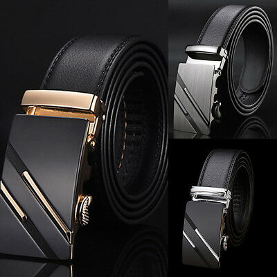 Luxury PU Leather Automatic Buckle Mens Casual Waistband Waist Strap Belt Belts