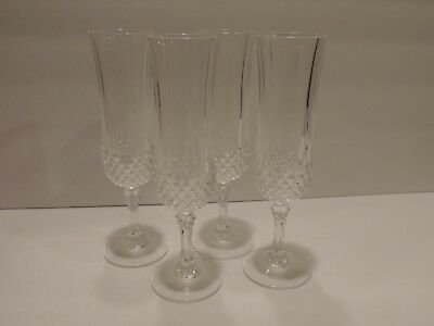 Lot Of Four Crystal Champagne Flutes 12 Available
