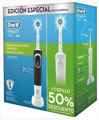 oralb cepillo dental duo-vitality blanco+negro