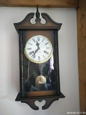 President Vintage Wind-up 30 Day Wall Clock. Chimes and With Pendulum