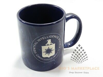 Usa Central Intelligence Agency Cia Coffee Mug Blue Marble Appearance Engraved