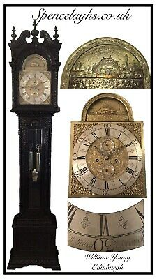 Fine Late 19th Century 8 Day Deadbeat Ship Automaton Carved Longcase Clock