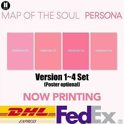BTS MAP OF THE SOUL:PERSONA Album 4 Version SET CD Photobook Photocard Postcard
