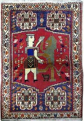Tapis Persan Traditionnel Oriental hand made 102 cm x72 cm  N° 78