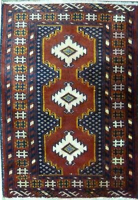 Tapis Persan Traditionnel Oriental hand made 90 cm x60 cm  N° 86