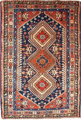 Tapis Persan Traditionnel Oriental hand made 155cm x104 cm  N° 41