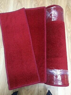 23	x	8.50	inches	(	58	x	22	cm) X12 SOFT PILE RICH RED STAIR PADS + RUG #83