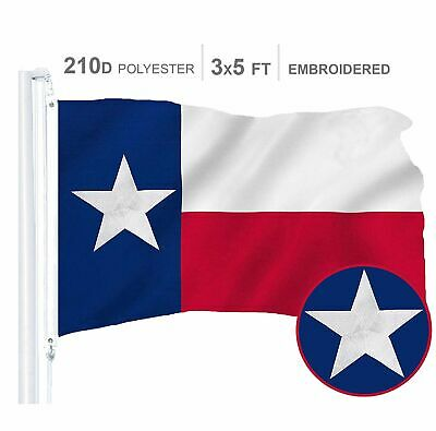 Texas State Flag 210D Embroidered Polyester 3x5 Ft