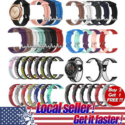 US Silicone Rubber Watch Band Wrist Strap For Samsung Galaxy Watch S4 Gear S3 di