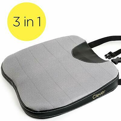 Car Seat Cushion with Strap - Thick 2.5 Inch Auto Wedge | Memory Foam | Coccyx S