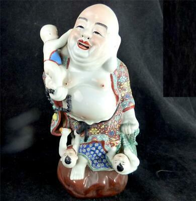 Chinese Famille Rose Hand Painted Porcelain Figure Of Buddha