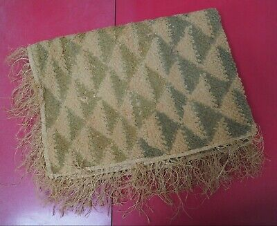 Good Quality Large Congo Kuba Tribe Raffia Textile Panel Ideal For Framing Nr!