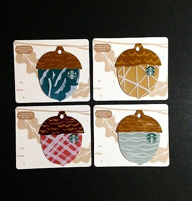 Starbucks  Gift Card ----- Complete Set Of 4 Pcs. ----- New