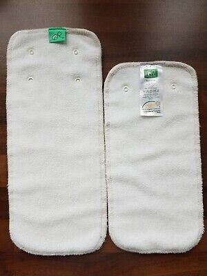 Tots Bots Peenut Pad bamboo cloth nappy booster used immaculate