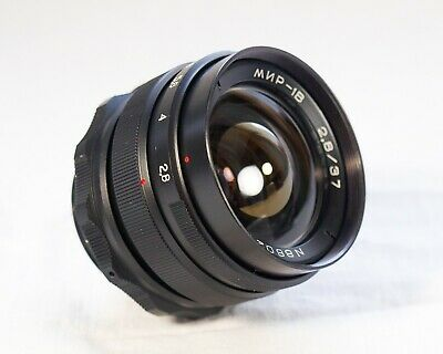 Mir 1V 37mm Excellent! Vintage Lens f/2.8 Wide Angle M42