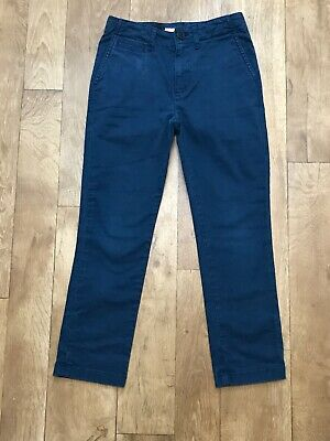 """Boys Burberry Dark Blue Chino Trousers Size 8-9yrs W24"""" L21"""" RRP £100 A6"""
