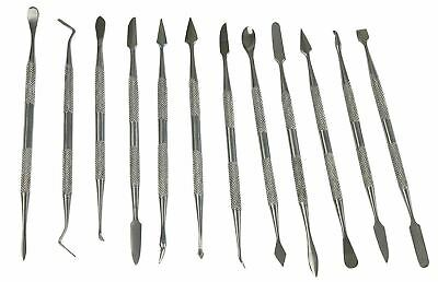 12pc Wax Carving Tool Set Stainless Steel Carvers Modelling Sculpting Soap Clay
