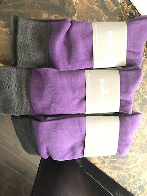 3 Pair New Mens Bombas Socks Large