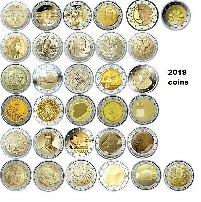 2 Euro commemorative coins 2019