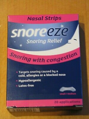 SNOREEZE NASEL STRIPS  X 20 SNORING WITH CONGESTION small/medium/large available