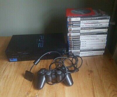 Sony PlayStation 2 Black Console (SCPH-30003R) + Games bundle