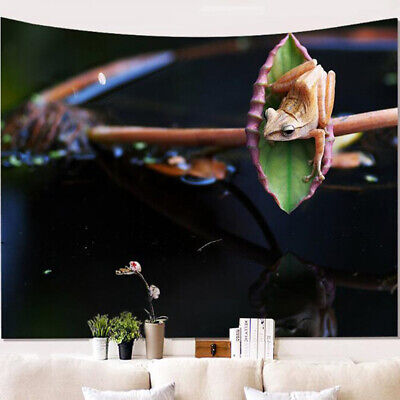 Wall Tapestry Bedroom Decor Polyester Frog 3D Digital Printing Hanging Cloth N7