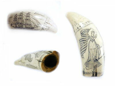 Replica - Scrimshaw Of The Whaler Eagle J.A. -  Liberty