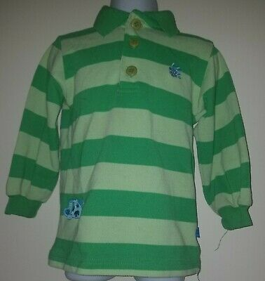 Rugby Kids Blues Clues Steve Nick Jr Green Striped Long Sleeved Polo