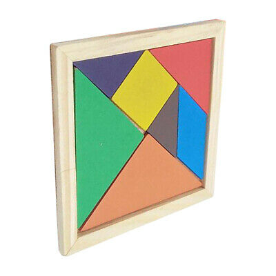 Tangram Wooden Toys Brain Teaser Puzzle Game Toys Intelligence Jigsaw Puzzle