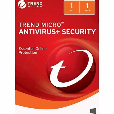 Trend Micro Antivirus+ Security 1 PC |1 YEAR | Delivered by USPS