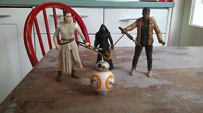 Star Wars The Force Awakens Action Figure bundle Finn,Rey, BB-8 and Kylo Ren