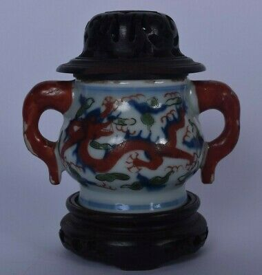 Chinese porcelain chinese censer incense burner xuande ? chinese antique wucai