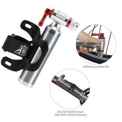 Bike Tire Manual Inflator Emergency Portable Twin Valve CO2 Bicycle Cycling UK