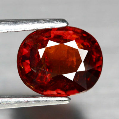 Aaa - Spessartite Garnet - Natural Spessartine Ct 1.67 Oval Cut Origin Namibia