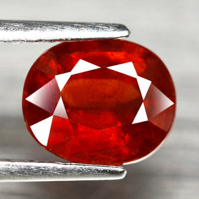 Aaa - Spessartite Garnet - Natural Spessartine Ct 1.63 Oval Cut Origin Namibia