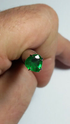 Aaa - Natural Tsavorite Garnet Ct 1.08 - Si - Top Green Pear Cut Origin Tanzania