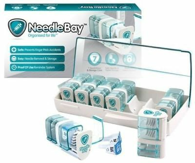 Needlebay Safe Storage For Insulin Needles And Tables With Travel Case 7 Bays