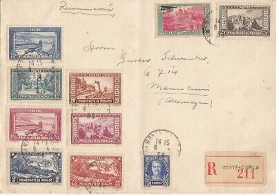 MONACO to Germany AIRMAIL cover 1936 SUPERB!!