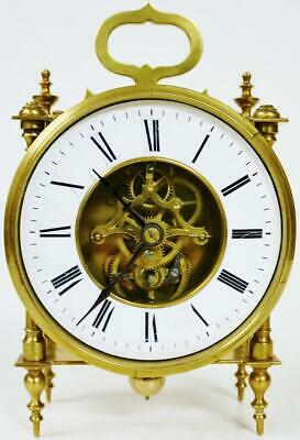 Antique French 8 Day Farcot Timepiece Mantel Carriage Clock  Visible Escapement