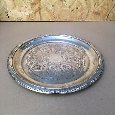 Vintage Silver Plated Small Tray / Plate - 21cm dia