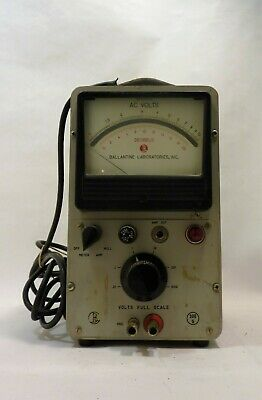 Ballantine Laboratories Inc Vacuum Tube Voltmeter
