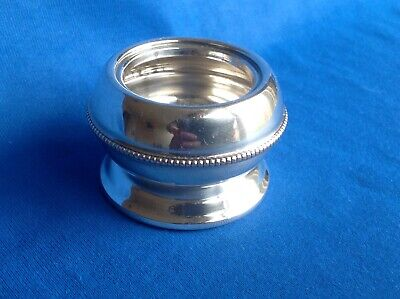 vintage or Antique Silver Plated Mustard Pot With Guy Degrenne Spoon
