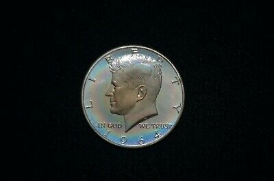 1964 GEM PROOF Kennedy Half Dollar TONED