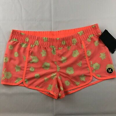 794c5f192d Hurley Scallop Printed Beach Rider Board Shorts Women's Size XS Floral  Orange