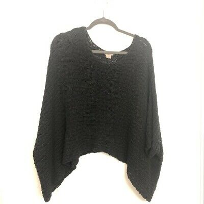 0eb6af7569dc Helmut Lang Size S Small Black Knit Sweater Poncho Shrug Oversized Womens