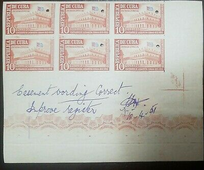 O) 1951 Spanish Antilles, Punch Proof, Centenary Of The Adoption Of Flag-Special