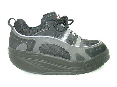 1a1f27106a62 MBT Sport 03 Black Leather Athletic Walking Toning Shoes Womens 8.5 M EUC