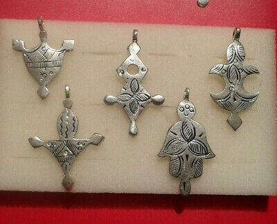 lot Rare Silver Viking Thors Hammer cross Amulet Pendant C 8th / 9th.cent AD.