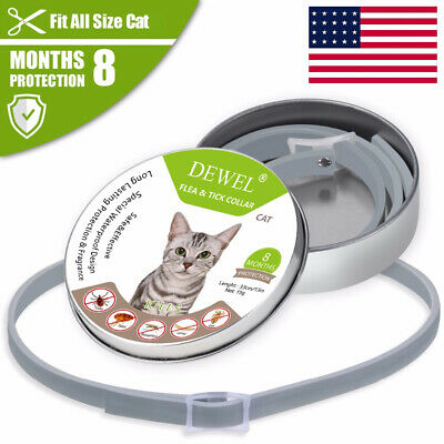 Dewel CATS DOGS Flea and Tick Collar Anti-insect Up 8 Month Protection seresto